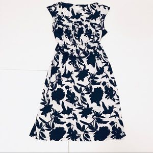 Motherhood Maternity White and Black Floral Dress